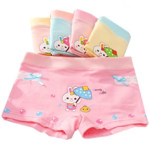 Tomada de fábrica GU01 New Grils Boxers Crianças Briefs Hight Qualidade Roupa Interior das Crianças Bebê Coelho Dos Desenhos Animados Underwear Girls Cotton Boxer Briefs