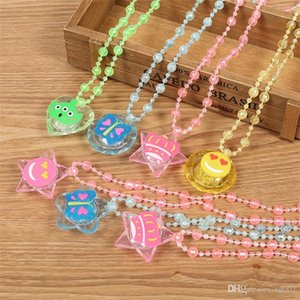 Couleur Flash Lumière Cartoon Pendentifs Collier LED Lampe Noël Enfants Adultes Party Favors Enfants Jouets Lanyard Facile Carry 1 45zc cc