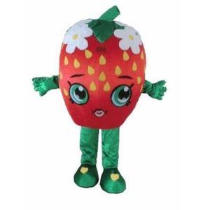 Halloween Morango Beijo Mascot Costume Outfit Birthday Party Fancy Dress