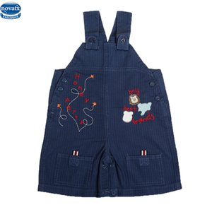 novatx L8679 2017 new kids summer unisex children clotheswith pocket embriodery letter pattern overalls suspender trousers hot