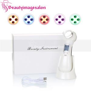 Горячая продажа Rechargable РФ EMS Sonic вибрации Ultrasonicwave Cleaner LED красоты лица Ион омоложения кожи красоты устройство для домашнего использования