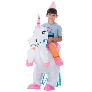 Carnaval De Noël Halloween Costume Costume Animal Costumes Gonflable Cheval De Dinosaure Cowboy Licorne Costume Pourim pour Enfants
