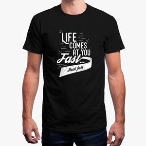 2018 nueva Life Comes At You camiseta rápida para hombre traje de hombres camiseta 100% algodón camiseta de hombre fitness camiseta masculina tops de la cadera