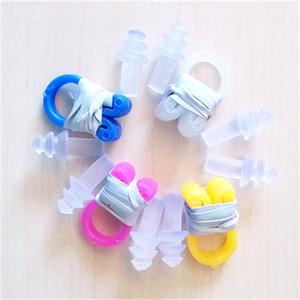 Kit de clip y tapón para la nariz debajo del agua para nadar Silicona Tapones para oídos suaves y cómodos Juego de clips para la nariz Deportes acuáticos 1jy dd