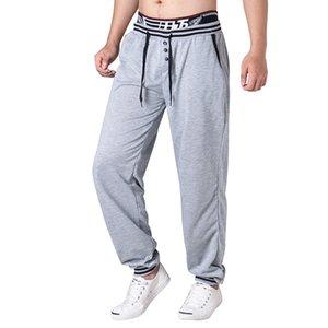 Mens Casual Designer Jogger Pants Solide Pencil Pants Buttons Designer Elastische Taillenhose Sportbekleidung