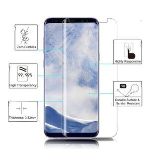 Für S9 / S9 Plus / S8 / S8 Plus / S7 Edge / S6 Edge / Note Edge Hinweis 7 Full Cover 3D gebogene gehärtetes Glas Displayschutzfolie