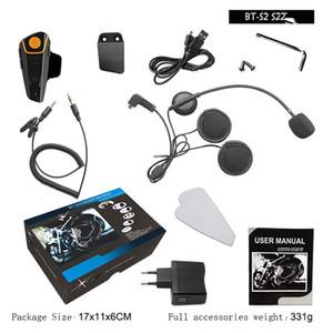 Bluetooth 3.0 BT-S2 1000m 30M IP67 impermeabile Moto del casco auricolare Bluetooth citofono del motociclo per il motociclo con FM