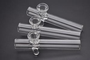 Klären Sie Steamrollers Glashandtabakpfeifenhand trockene Krautpfeifen Labor-rauchende Tabakpfeifen mit Schneeflockefilterschüsselqualität