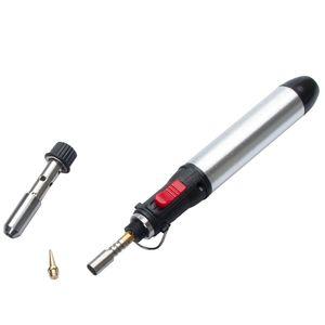 Freeshipping Portable sans fil gaz Fer à souder Flamme Butane de pistolet à souder chaleur chalumeaux Outil 1300 degrés de l'équipement de soudage