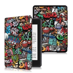 Gemalt Smart Cover für Neues Kindle Paper 2018 E-Leser leichten Schlag PU-Leder Etui für Amazon Kindle New Paper 4 6-Zoll-Tablet