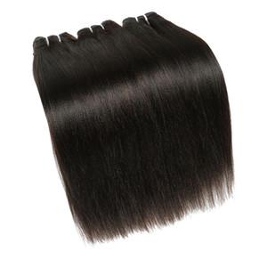 Charmingquee peruana Yaki recta del pelo humano Bundles peruana Kinky virgen recta extensión del cabello humano 8-20 pulgadas gruesa Yaki pelo que teje
