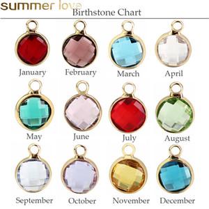 12 pezzi colorati fascini di cristallo di Birthstone per i monili del braccialetto la collana che fa Floating Artigianato Beads Charm Accessori fai da te