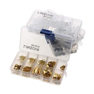 HOT Box Set Contas Kit Anéis de Salto / Fechos Para Fazer Jóias Colar DIY Descobertas Jóias Acessórios Componentes