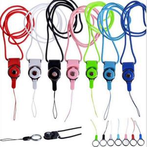 Destacável Correia de pescoço Moda Rotatable Lanyard Hanging colorida Corda Com Sling dedo anelar para o cartão de ID Cell Phone