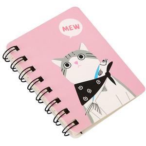 Kawaii Cactus Spirale Notebooks semainier Plan Day Cat Supplies journal quotidien Notepads Bloc-notes école mignon papeterie enfants cadeau