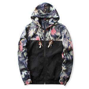 Designer bomber floreale uomo hip hop slim fit fiori pilota bomber giacca cappotto uomo giacche con cappuccio incantesimo traspirante plus size 4XL