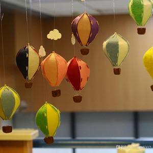 Praktische Kindergarten Ornament Luftballon Rainbow Stripe Grid Windsock Hot Balloons Wind Spinner Garten Hof Einfach Tragen 4 2yf cc
