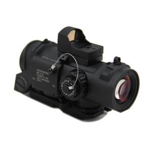 Тактический DR 1x-4x Фиксированная лупа Оптический прицел Охота 4x32 Красный с подсветкой Mil-Dot Сфера с автоматической красной точкой