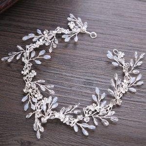 Duolafine ручной работы серебряный цвет горный хрусталь Кристалл свадьба оголовье аксессуары для волос невесты тиара ювелирные изделия FD616 S918