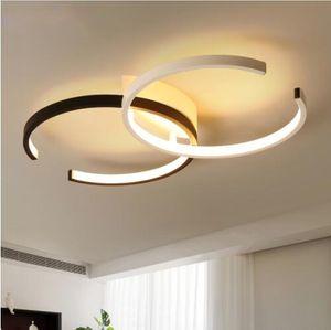 Moderne Led Plafonniers circulaires lustres de plafond pour Living Room Lampe de plafond avec flushing Télécommande Mont Cuisine lampe