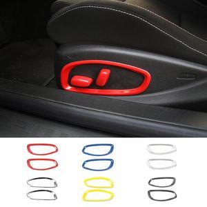 АБС Регулировка сиденья кнопка кольцо украшения аксессуары для Шевроле Камаро 2017 до стайлинга автомобилей интерьера Аксессуары