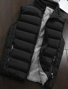 Gilet da uomo autunno 5XL Uomo Moda Stand Colletto Gilet Giacche senza maniche uomo Casual Slim Fit Cotton Pad Cappotti all'ingrosso
