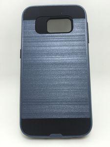 Dual Layer Silikon + PC harte Bürste Rüstung Fall Anti Shock Thin Hybrid Abdeckung für Samsung Glaxy S4 S5 S6 S6 Rand S7 S7 Rand S7 Plus