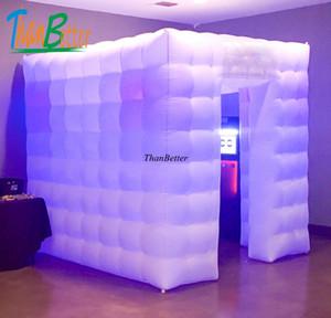 ThanBetter 2.4x2.4 cubo tubo LED gonfiabile cabina foto fatta in Cina fabbrica gonfiabile per prezzo di vendita