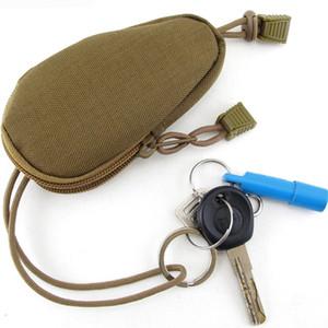 Porte-clés mini-sac affaire porte-monnaie en plein air gadget EDC militaire tactique vitesse accessoire pochette cadeaux promotionnels petit trousseau zipper pochette