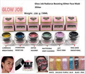 6 colors Radiance Boosting glow job mask Glitter face mask with real gold 30 minutes relaxing smooth soft facial reveal 50ml