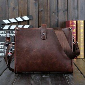 Человек мода сумки 2018 старинные реальные Crazy Horse кожа Crossbody сумки для мужчин натуральная кожа сумка мужской работы бизнес Messenger сумки