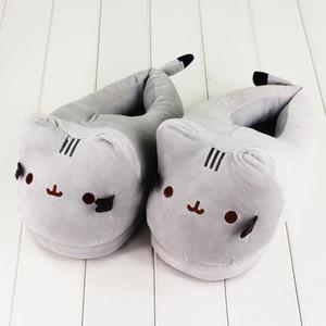 28cm Cat Plush Slipper Die Katze Tier Winter warme Indoor-Schuhe für Erwachsene