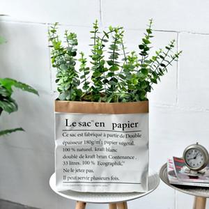 Stile europeo e americano alta Quailty all'ingrosso Casa Accenti Spazi verdi di eucalipto decorazione foglie Faux floreale Bouquet
