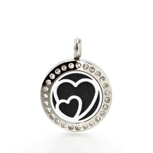 316L stainless steel tree of life heart Perfume Essential oil Diffuser Locket 20mm Hollow Locket with 10pads randomly