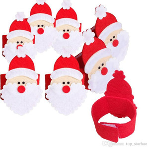 Santa Claus Napkin Ring Christmas Decoration Napkin Holder Hotel Wedding Supplies Party Napkin Buckles Table Decoration Free EMS XL-340