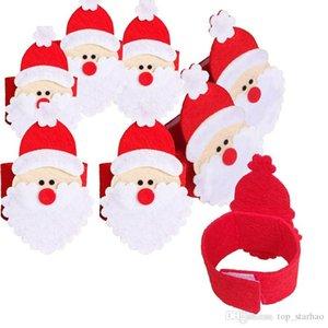 Babbo Natale Tovagliolo Anello Decorazione natalizia Tovagliolo Albergo Forniture di nozze Festa Napkin Fibbie Decorazione da tavola gratuita EMS XL-340