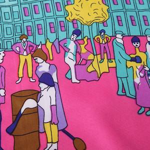 Place Imprimer Foulard en soie pour les femmes Big Grand Châles Femme Foulard En Soie Rouge Echarpe Twill Scarfs gros