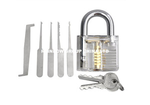 high quality professional Transparent Cutaway Dimple Clear Practice Lock with 5pcs lock pins hook key extractor FOR locksmith BK104