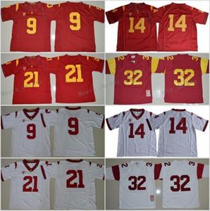 Herren USC Trojaner Jersey # 9 Juju Smith-Schuster 14 Sam Darnold 21 Adoree 'Jackson 32 O.J Simpson College Football Trikots