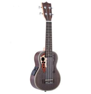 """Ukulele 21 """"Akustik Ukelele Ladin Ukulele 4 Strings Gitar Dahili Enstrüman ile Guitarra Enstrüman Ücretsiz Kargo"""