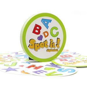 Lernspielzeug Spot it Alphabet 30 Karten ohne Metallbox für Familienspaß importiertes Papier Dobble it Brettspielkartenspiele