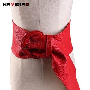 Kadınlar Için geniş Katı Pu Deri Korse Kemer Büyük D-Şekilli Metal Toka Bel Kemeri Elbise Wasitband Cintos De Mujer Riem