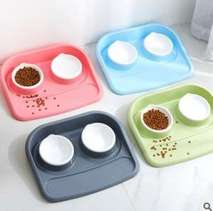 애완 동물 제품 플라스틱 고양이 애완 동물 그릇 환경 보호 비 독성 개 음식 두꺼운 그릇 식기 애완 동물 먹이 도구 최고 품질