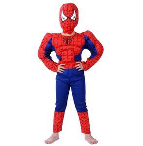 Nuovi costumi di Halloween Spider-Man Imposta Cosplay Stage Wear Abbigliamento Muscle Spiderman Bambini Kids Party Clothes