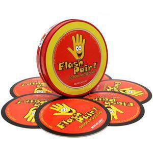 Romancard spot Flash Pair Basic Russian لديها لعبة بطاقة صندوق معدني للأطفال الذين يتعلمون الكلمات الروسية