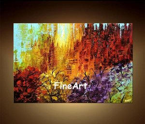 100% handmade tree art landscape oil wall art arte contemporanea bellissime opere d'arte dipinti home decor online