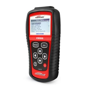 10 pcs Original KONNWEI KW808 OBD Scanner Automotivo OBD2 Ferramenta de Scanner de Diagnóstico Automotivo Suporta CAN J1850 Motor Leitor de Código Fualt