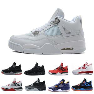 Hot 4 4s Homens tênis de basquete Eminem Pensador alternativos Motorsports Jogo Royal Blue Fire Red Branco Cimento Pure formadores Sneakers Dinheiro Esportes