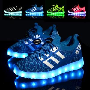Glowing Kinder Casual Schuhe mit USB wiederaufladbare Kinder Led leuchten Schuhe Leuchtende Sneakers für Jungen Mädchen Sneaker Pink Schwarz