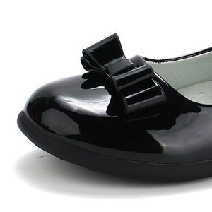 Kızlar ayakkabı siyah çocuk performans ayakkabı ilkbahar ve sonbahar yeni büyük boy prenses ilköğretim okulu düz ayakkabı